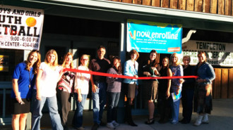 Ribbon cutting ceremony at Champions