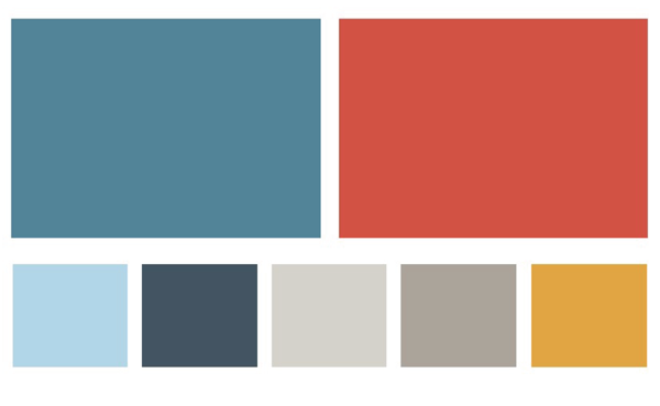 The new color palate for the Visit Atascadero campaign.