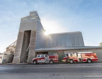 Crews respond to fire at Templeton Feed and Grain