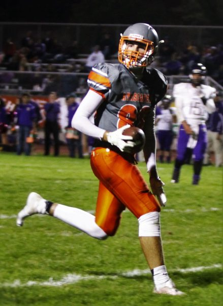 Garrett Raminha runs in Atascadero's final touchdown of the evening.