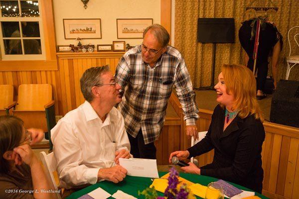 Paso Robles Mayor, Cassandra Tarantino, Atascadero Mayor Tom O'Malley.
