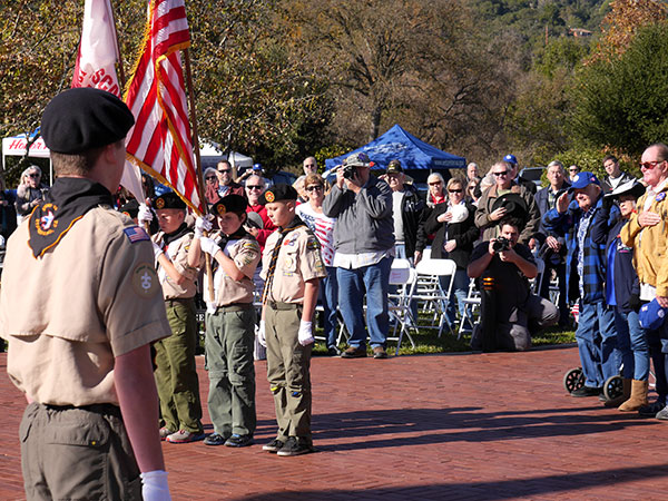 Scouts and singers entertained Atascaderans at the Pearl Harbor Remembrance event.