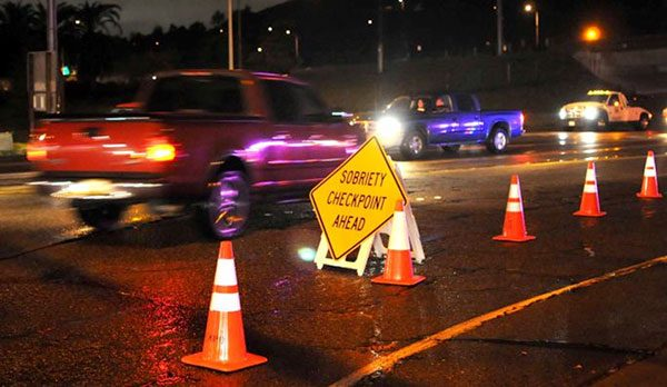 DUI checkpoint in Bakersfield on December 16th