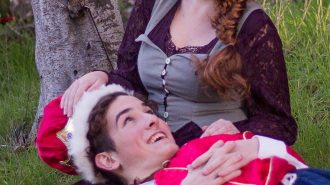Ashlyn Brookshire (top) and Elijah Lindsey (bottom) play the love interests Princess Winnifred and Prince Dauntless.