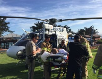 Motorcyclist air lifted to trauma center after accident near Ragged Point