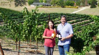 Ayako and Chris Williams of Kula Vineyard in Atascadero