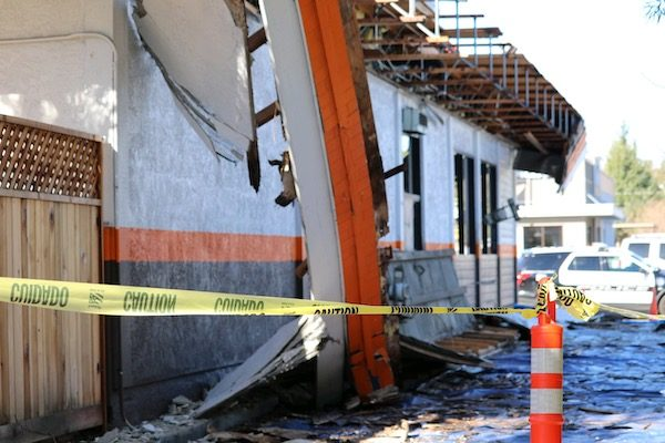 roof collapses atascadero reasturant