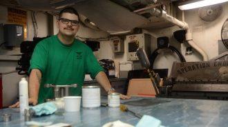 Atascadero native maintains aircraft at sea