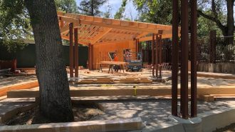 construction continues at the Atascadero Zoo, although the zoo itself is closed.