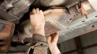 Catalytic Converter Removal at a Salvage Yard