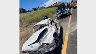 Patient transported to hospital after vehicle rollover on Highway 101
