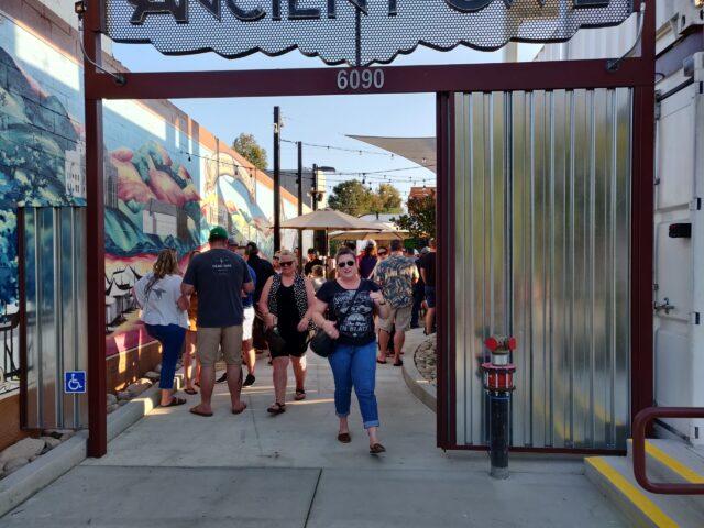 Packed Atascadero Pub Crawl Ancient Owl Beer Garden & Bottle Shoppe