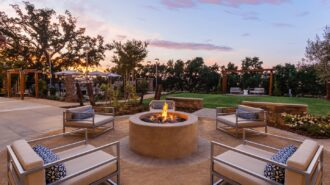 SpringHill Suites Marriott Outdoor Fire Pit